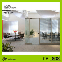 Aluminium Office Glass Divider Glass Partition System For Bank Shop Restaurant