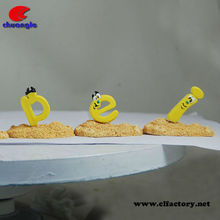 Cartoon Letter Item, Polystone Alphabet Handicraft, OEM Letter Toy