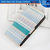 Hot Selling Flip Leather Cover Horizontal case For IPhone 4S