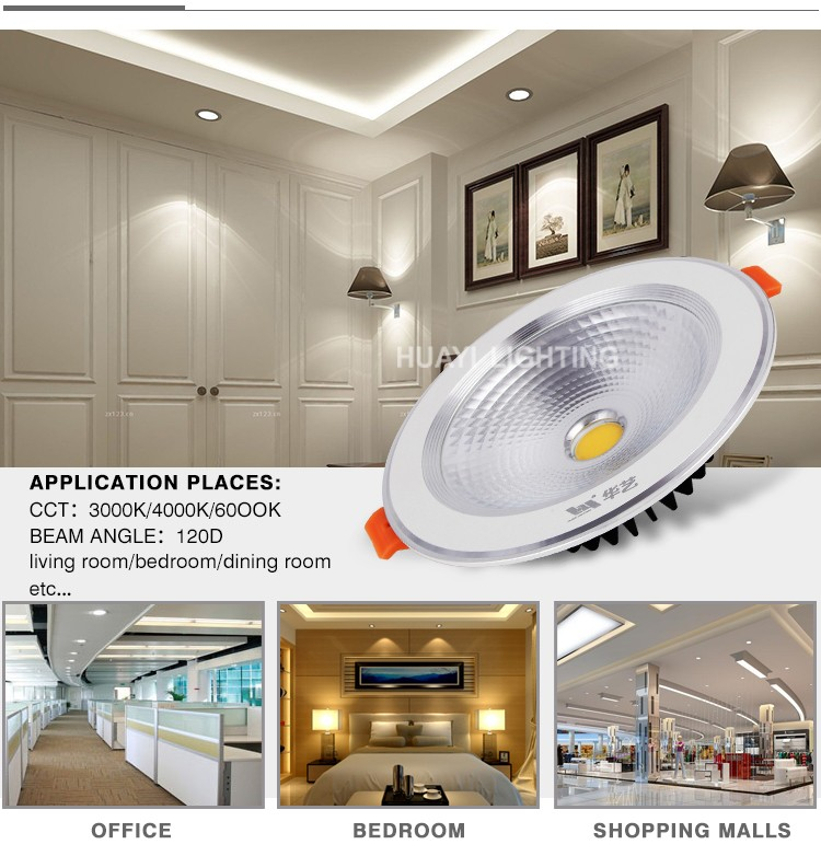 UL Listed Round Indoor Lighting E27 Ceiling LED Downlight with 85mm Cut Out