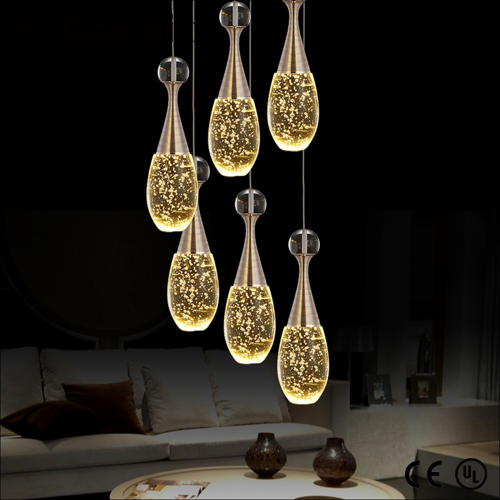5370 LED chip loft style crystal ceiling light fixtures in china