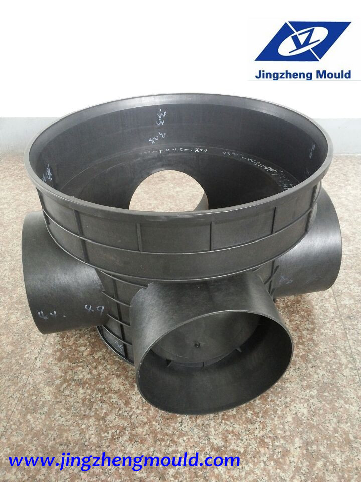 Plastic inspection well mould and product