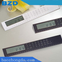 Promotional Multi-functional Electric Ruler Calculator with Functions of Ruler/Calculator/ Clock /Alarm