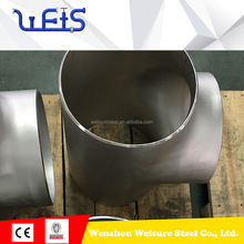 astm a312 uns s31254 stainless steel tee pipe fittings
