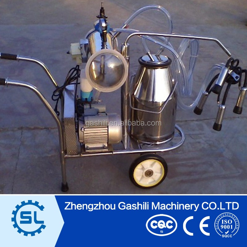 Easy operation single bucket milking machine for cow