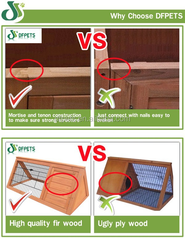 DFPETS DFD003 Eco-Friendly Wooden Dog Crate