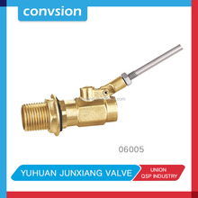 Taizhou Yellow Brass Color Water Float Small Ball Control Valve