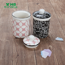 China supplier keep food safe porcelain spice containers with color printing