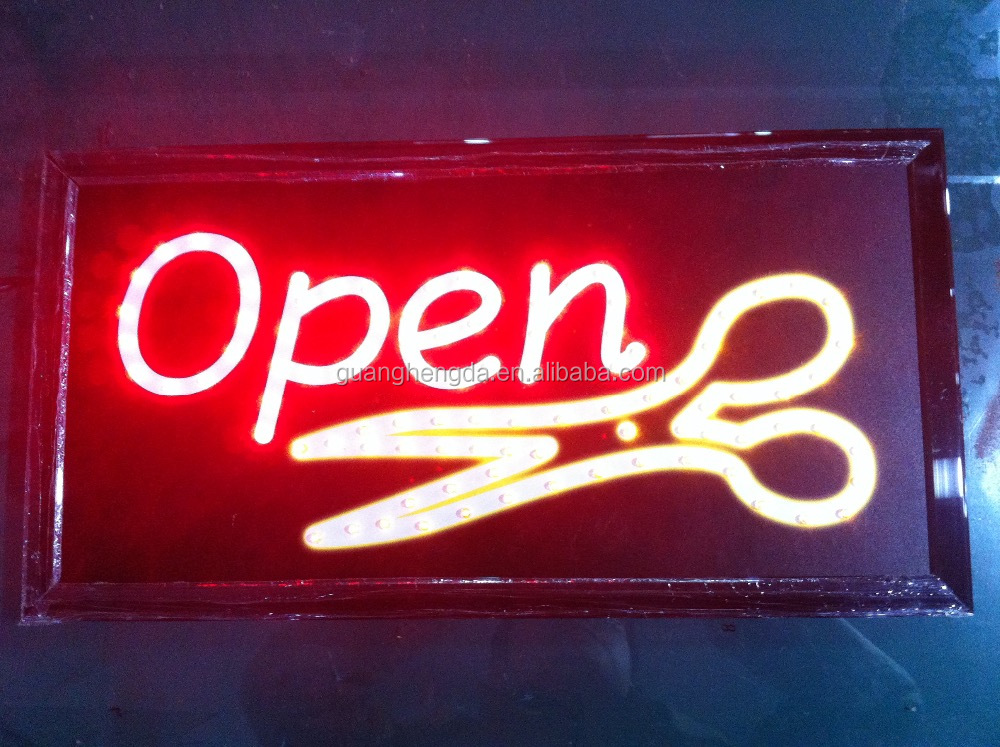 19*10inch LED open hair salon sign