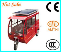 Three wheel motorcycle/Automatic Solar Energy Charge System 2015 Open Electric/Petrol/Solar Tricycle for passenger,Amthi