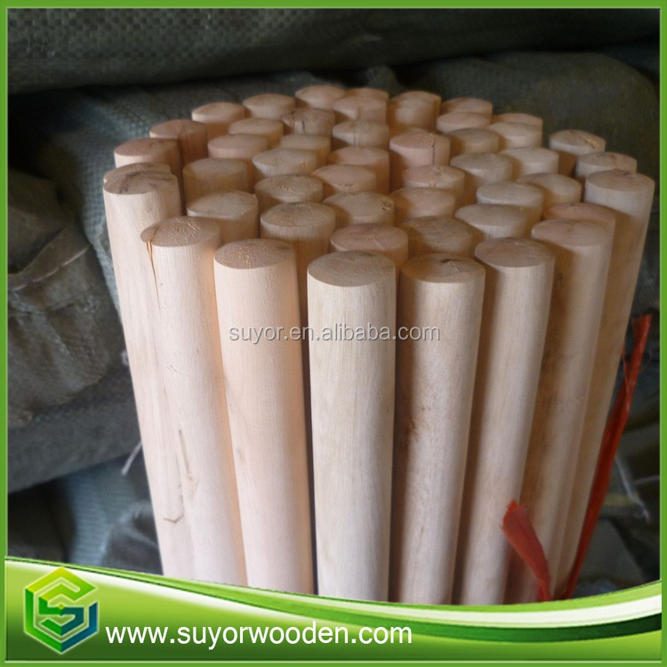Thick wooden mop stick raw material for mops