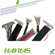 LVDS Cable with 30pin Hirose to 40pin LCD Connector Wiring Harness
