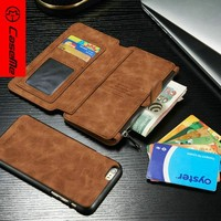 top selling products, Cell Phone Accessory wallet cover case for apple iphone 6s, 2 in1 wallet cover