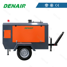 Diesel Engine Movable Tow Trailer Screw Air Compressor
