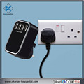 CE,ROHS,FCC,KC,SAA 5V4.5A 4-port USB multiple wall mount usb charger