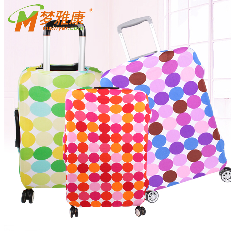 Colorful Dot Printing Promotional Gift Spandex Luggage Cover