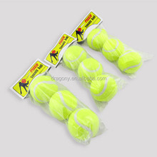 colored custom bulk eco-friendly soft rubber pet playing bulk tennis balls