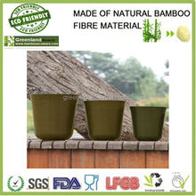 BIO friendly garden product natural customized ECO bamboo fiber round brown flower plant holder pots