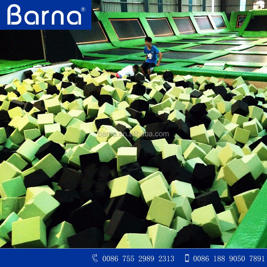 hot sell basketball games trampoline foam pit blocks, large trampolines foam pit cubes