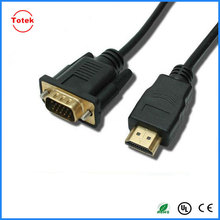 High speed 1080p black hdmi to vga cable