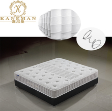 Pocket spring and memory foam mattress compressed in a carton box fit for bedroom and hotel