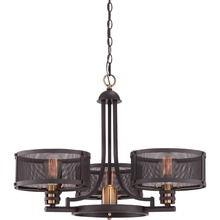 11.21-1vintage bulbs steam punk inspired roots Cage Chandelier Western Bronze Finish 3 Light Drum Chandelier