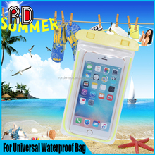 Swimming PVC Waterproof Pouch Case Cell Phone Bag for All Mobile Phone