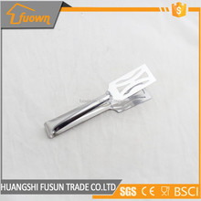 Kitchen accessories unique shape food service tong stainless
