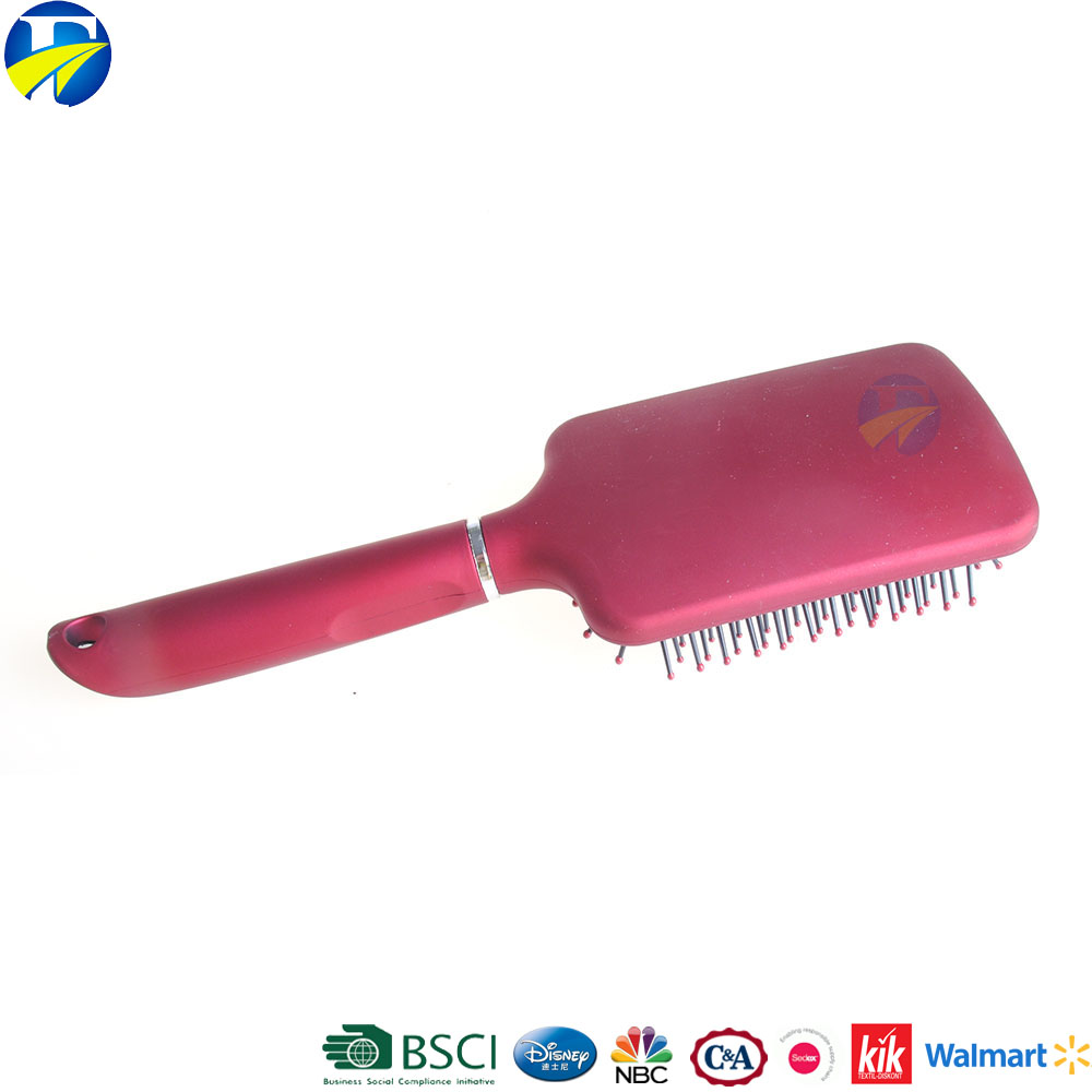 FJ brand new style plastic personalized hair brush cushion decorate hair brush