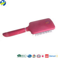 FJ brand new style plastic personalized hair brush cushion decorate hair brush