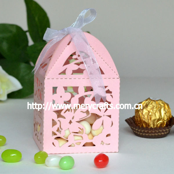 hot sale wedding candy packaging boxes , personalised wedding favor box