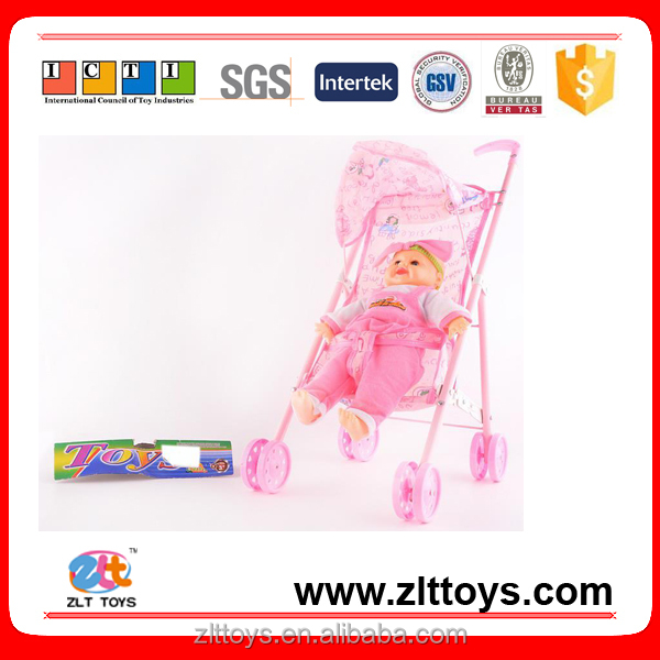 Hot free sample toys baby pram stroller doll