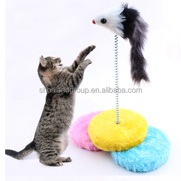 Factory Supply Braided Knots Cotton plush mouse cat toy