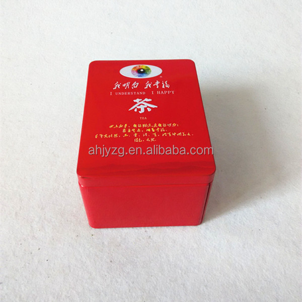 Chinese green tea bag storage box for mart promotion