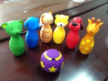 Fun colorful bowling toys for baby/ cute baby bowling toy / Animal bowling toy