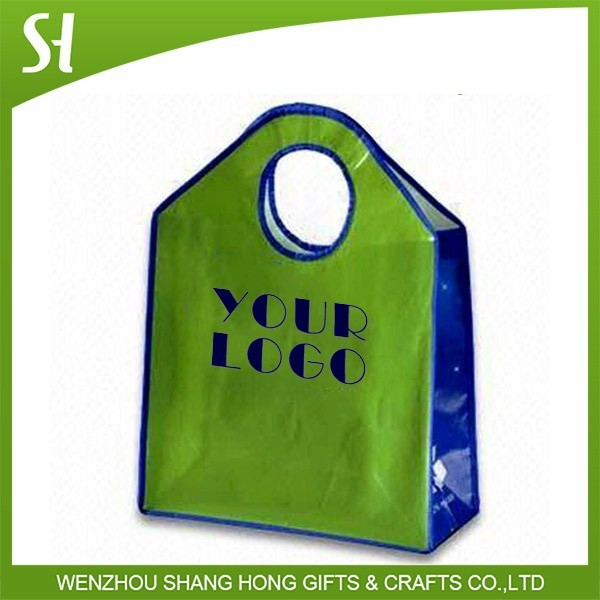high quality reusable green pp non woven die cut shopping tote bag for supermarket packaging
