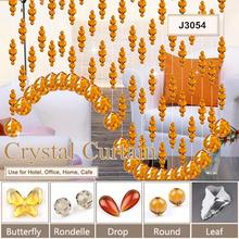 Pujiang manufacturer wholesale handmade crystal bead window curtains