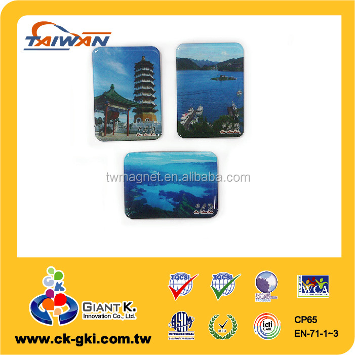 Taiwan tower landscape epoxy resin fridge magnet