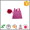 foldable red high quality shopping bag for young people