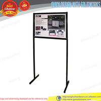 Retail Store Advertising sign holder display floor stand
