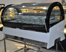 Little curved glass display freezer for ice cream