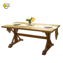 Rustic Solid Oak French Pictures of Wooden Dining Table