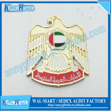 Gold falcon uae national day pin badge