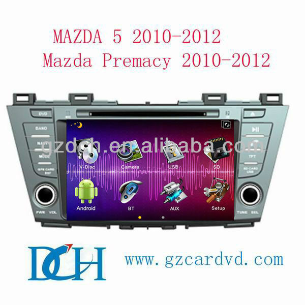 android car dvd gps navigation system for mazda 5 PREMACY 2009-2012 WS-9230