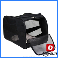 Folding pet travel carrier cardboard box bag