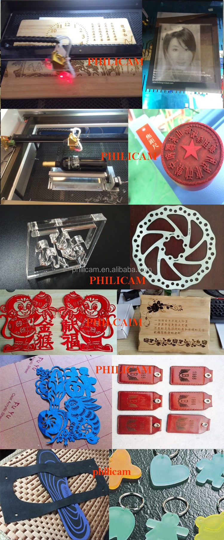 Wood plastic leather Co2 cnc laser cutting engraving factory/laser machine price