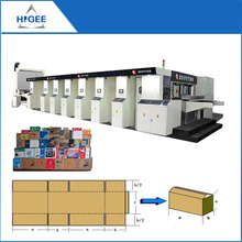 3.5.7 layers Single facer corrugated cardboard machine production line carton making machine