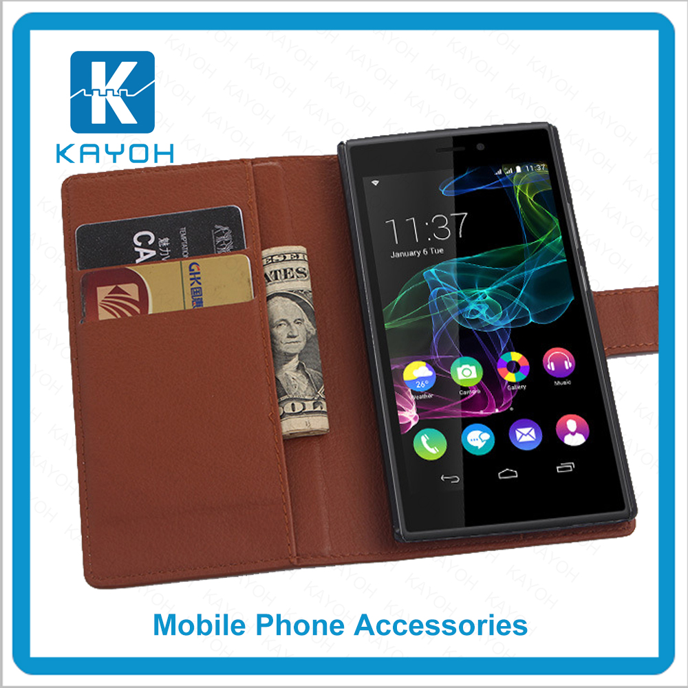 [kayoh]New arrival PU leather customized mobile phone case, high quality for wiko ridge 4g case