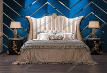 2015 new design swing bed modern luxury princess wood bed design for bedroom