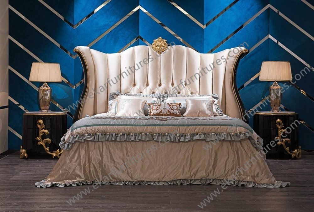 2017 new design swing bed modern luxury princess wood bed design for bedroom
